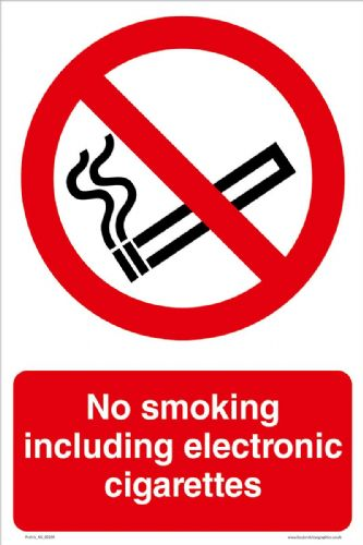 No smoking including electronic cigarettes